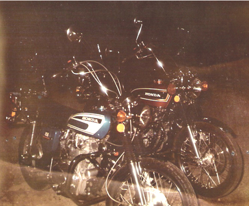 1971 Honda CL450 and 1974 CB750